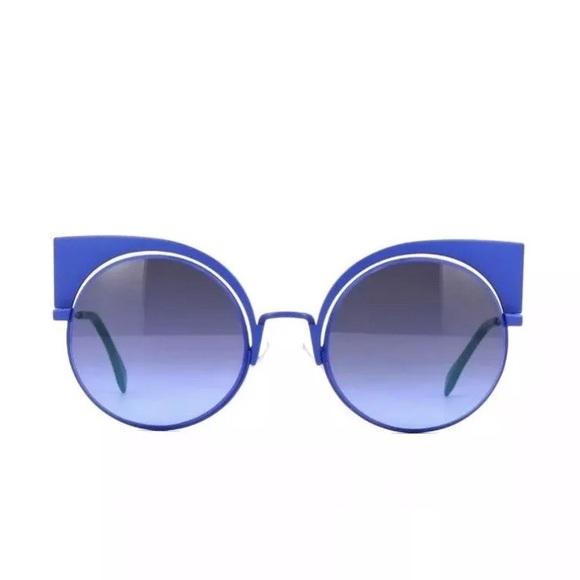 bffecdff79a NIB fendi blue green gray cat eye sunglasses